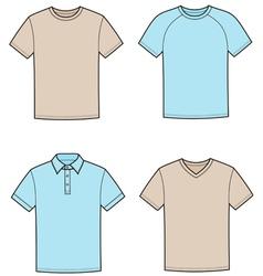 T shirts vector image