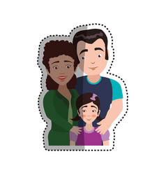 People relationships and family vector