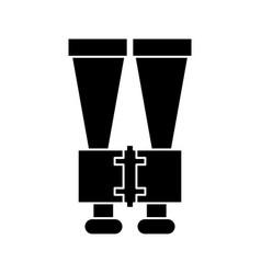 Binoculars look observe pictogram vector