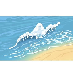 Wave lady vector image