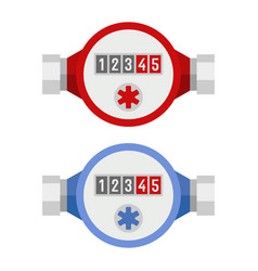 water meter icon set vector image