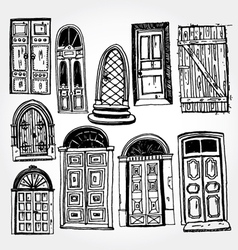 Old doors vector
