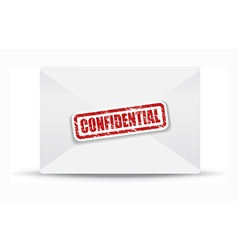 Confidential white closed envelope vector