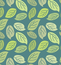 Seamless leaves background Vintage pattern for vector image