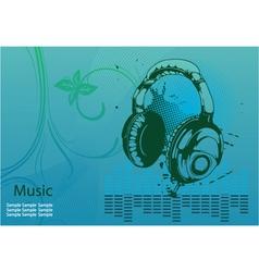 Concert poster with headphones vector