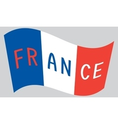 French flag waving with word france vector