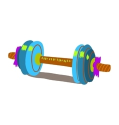 Cartoon dumbbells flat icon vector