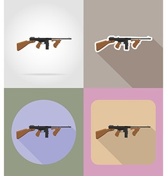 Weapon flat icons 06 vector