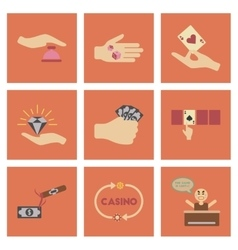 Assembly flat icons poker game vector