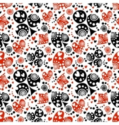 Seamless pattern endless background vector
