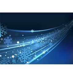 Blue Abstract Xmas vector image