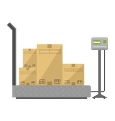 Boxes on the scales vector image