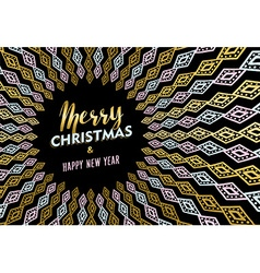 Christmas and new year gold tribal art background vector