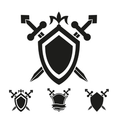Coat of arms knight shield templates vector