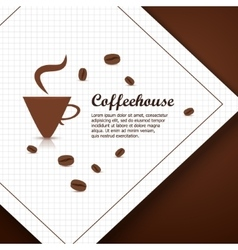 Coffee house background vector