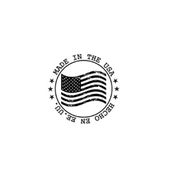 Grunge made in usa stamp with flag vector