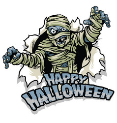 halloween design mummy character vector image
