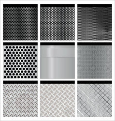 Metal textures set vector