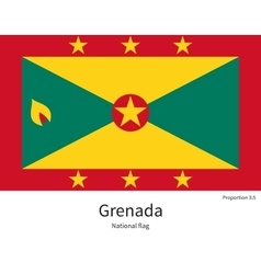 National flag of grenada with correct proportions vector