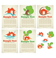 Property cards vector