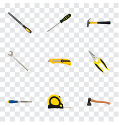 realistic hatchet sharpener scissors and other vector image vector image