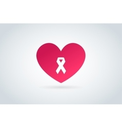 Stop cancer medical logo icon concept vector