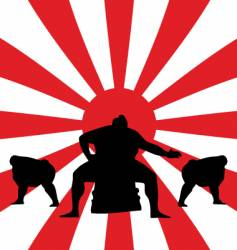 sumo fighting vector image