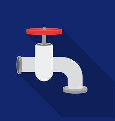 tap icon in flate style isolated on white vector image vector image