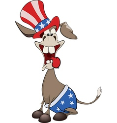 The american donkey the donkey party vector