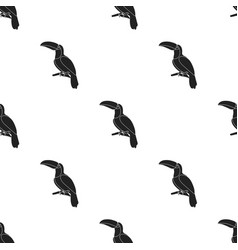 Toucan icon in black style isolated on white vector