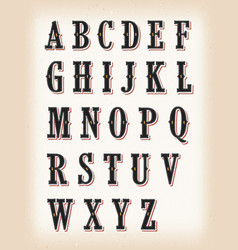 vintage circus and western abc font vector image