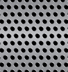 Seamless metal background vector