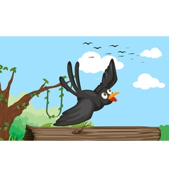 a bird in nature vector image