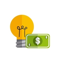 bill dollar with business icon vector image