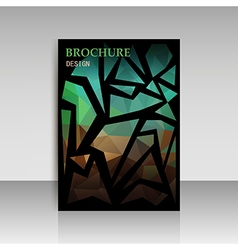 Abstract brochure flyer design in geometrical poly vector