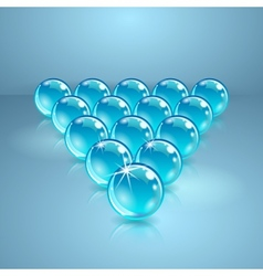 Pool or billiard balls made of glass vector