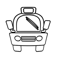 outline taxi car vehicule transport public vector image