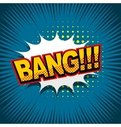 Comic text background bang vector