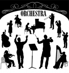 Orchestra set vector