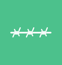 icon barbed wire vector image
