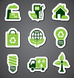 eco sticker label vector image