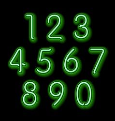 Numerical figures in sparkling neon colors vector