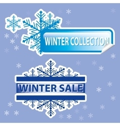 winter stickers vector image