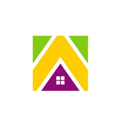 Icon house realty construction media logo vector