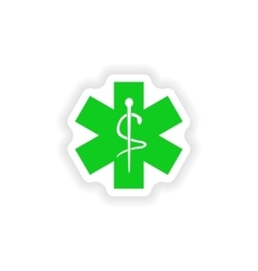 Icon sticker realistic design on paper medical vector