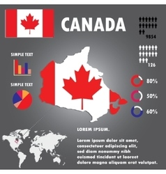 Canada country infographics template vector