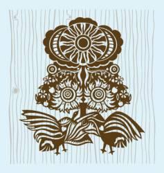 birds under sun vector image