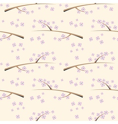Floral patter with flowers on the branch vector
