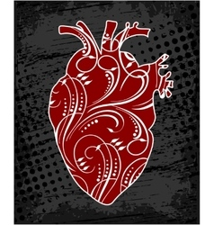 Anatomical floral human heart vector