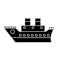 boat cruise travel sea pictogram vector image vector image